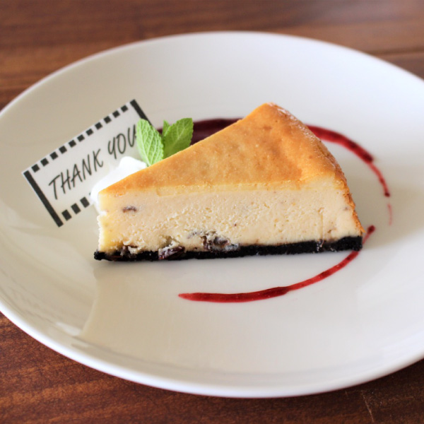 ラムレーズンのベイクドチーズケーキ