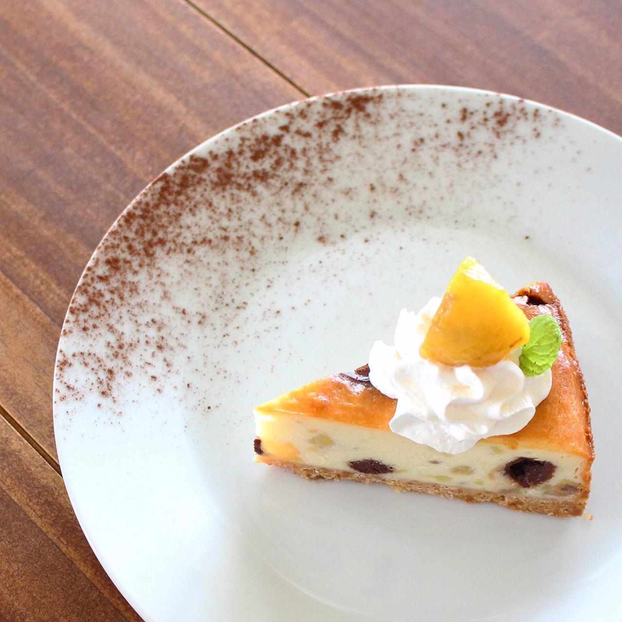 栗とガナッシュのベイクドチーズケーキ