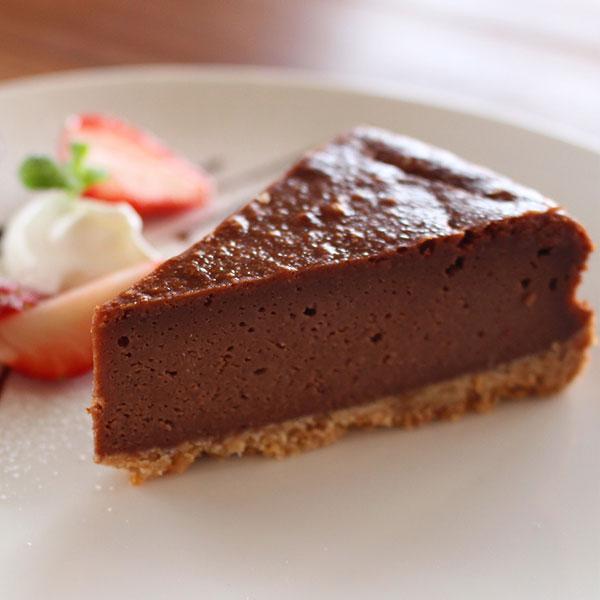 チョコレートのベイクドチーズケーキ