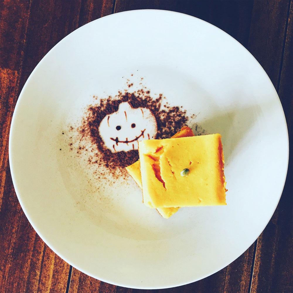 かぼちゃのキューブチーズケーキ