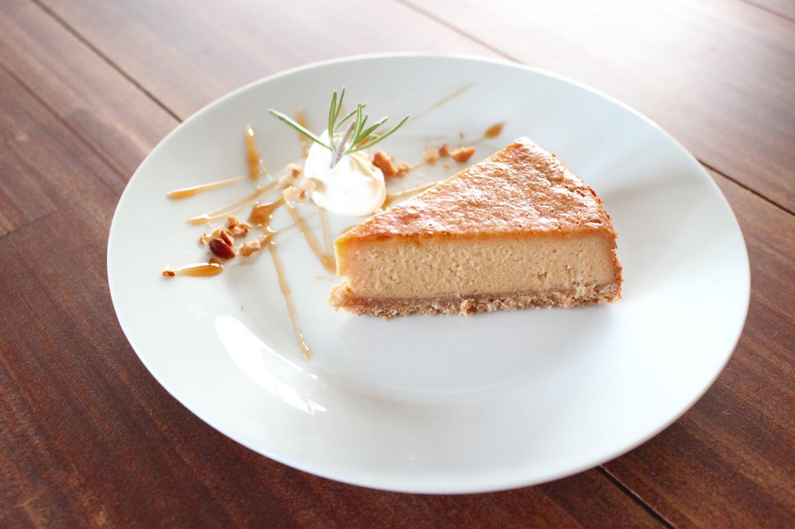 キャラメルバナナのベイクドチーズケーキ