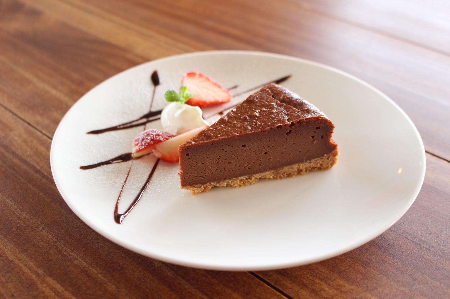 チョコのベイクドチーズケーキ