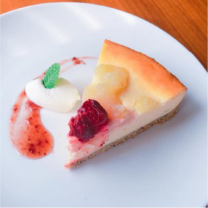 ラ・フランスとアールグレイのチーズケーキ